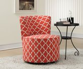 "Monarch Specialties I 8132 Coral ""Inchantern"" Fabric Accent Chair with Swivel Base"