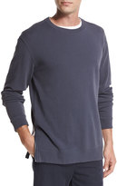 Vince Side-Zip Crewneck Sweater