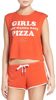 The Laundry Room Pizza Girls Crop Muscle Tank