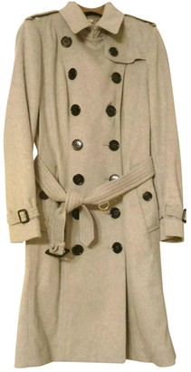 Burberry Grey Cashmere Trench Coat for Women