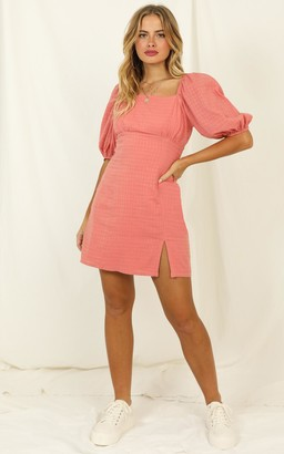 Showpo Electric Babe Dress in coral - 6 (XS) Dresses