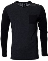 G Star Men's Harm Longsleeve Crew Neck Tee In Compact Jersey