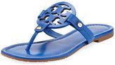 Tory Burch Miller Leather Logo Flat Slide Sandal