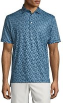 Peter Millar Breeze Floral Performance Polo Shirt, Navy