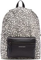 Alexander McQueen Ivory and Black Leopard Backpack