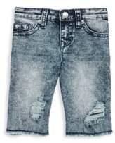 True Religion Little Boy's & Boy's Slim Single Distressed Shorts