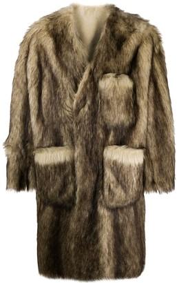 Raf Simons Faux-Fur Coat