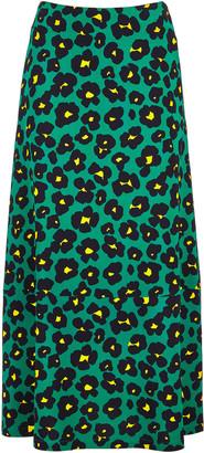 La DoubleJ Printed Crepe Midi Skirt