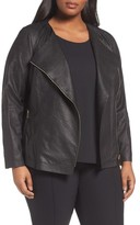 Lafayette 148 New York Plus Size Women's Aimes Leather Jacket