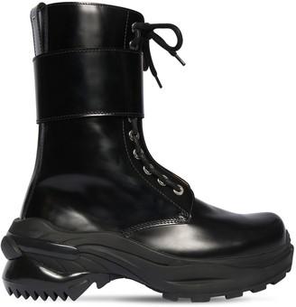 Maison Margiela 50mm Brushed Leather Combat Boots
