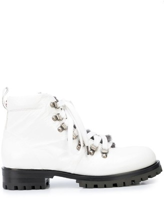 Chuckies New York Faux Fur Trim Boots
