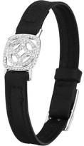 Jan Logan 18ct Diamond Lila Leather Bracelet