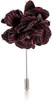Lanvin Men's Striped Rose Tiepin-RED