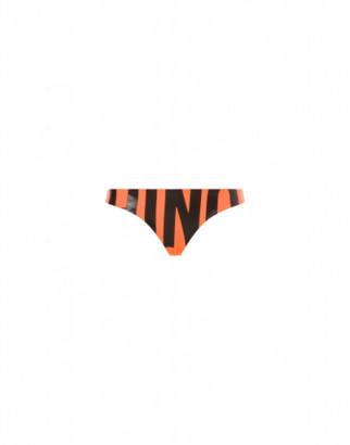 Moschino Maxi Logo Fluo Bikini Bottom Woman Orange Size 1 It - (4 Us)