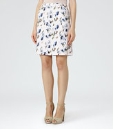 Reiss Nelly Printed Skirt