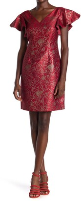 trina Trina Turk Shaken Not Stirred Jacquard Sheath Dress