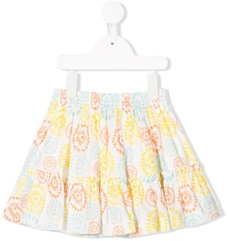 Knot African flowers skirt
