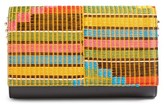 Christian Louboutin Paloma Africube Leather & Textile Clutch - None