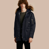 Burberry Hooded Parka with Detachable Raccoon Trim
