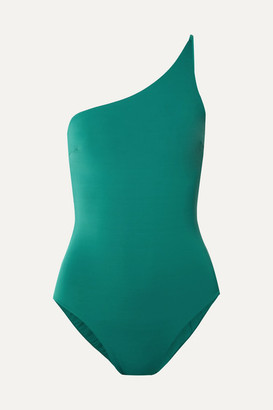 Haight Line One-shoulder Swimsuit - Green