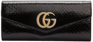 Gucci Black Snake GG Broadway Clutch