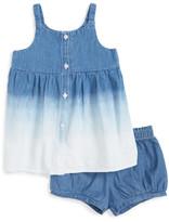 Splendid Bleach Out Sleeveless Denim Dress & Bloomer Set (Baby Girls)