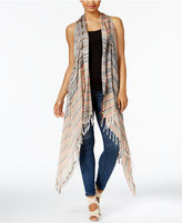Collection XIIX Runner Striped Fringe Vest