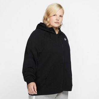 Nike Women's Sportswear Essential Fleece Full-Zip Hoodie (Plus Size)