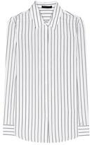 The Row Peter Striped Silk Shirt