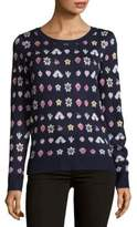Saks Fifth Avenue RED Patterned Knitted Sweater