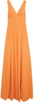 Emilia Wickstead Fanina Embellished Crepe Gown - Mustard