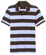 Banana Republic Slim Luxury-Touch Rugby Stripe Polo