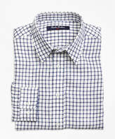 Brooks Brothers Irish Linen Mini Check Sport Shirt