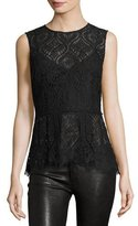 Veronica Beard Lace Date Night Top, Black
