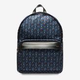 Bally Wolfson Medium Blue, Men's printed nylon backpack in multi-ink