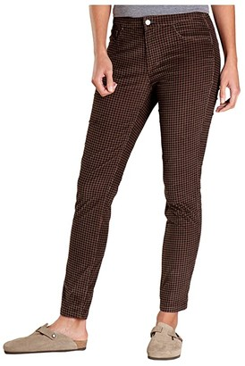 Toad&Co Cruiser Cord Skinny Pants (Chestnut Houndstooth Print) Women's Casual Pants