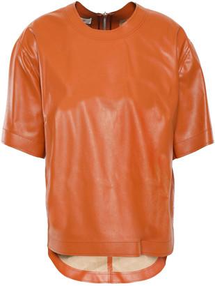 Cédric Charlier Faux Leather Top
