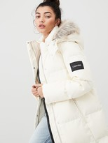 Calvin Klein Modern Down Coat - White
