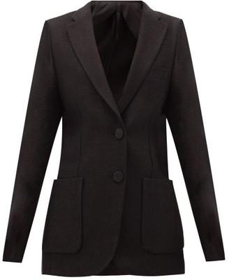 Petar Petrov Jael Single-breasted Hopsack Suit Jacket - Womens - Black