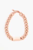 Nasty Gal New Identity Necklace - Rose Gold
