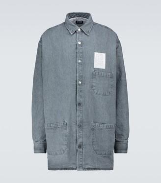 Raf Simons Padded big-fit denim shirt