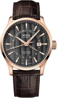 MIDO Multifort Automatic Leather Strap Watch, 42mm
