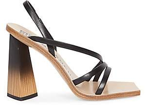 Givenchy Women's Wood & Leather Slingback Sandals
