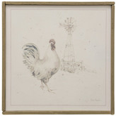 Stylecraft Rooster Farm Animal Art, Canvas Print with Handpainting