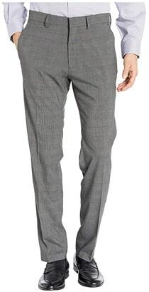 Kenneth Cole Reaction Stretch Heather Glen Plaid Slim Fit Flat Front Dress Pants (Charcoal Heather) Men's Dress Pants