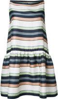 Jil Sander Navy striped dress - women - Silk/Linen/Flax/Polyester - 34
