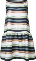 Jil Sander Navy striped dress - women - Silk/Linen/Flax/Polyester - 36