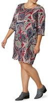 Junarose Plus Beavie Zeenan Paisley Printed Dress