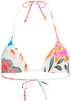 Mara Hoffman Women's Arcadia Tie Bikini Top White/Pink
