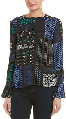 Derek Lam 10 Crosby Bell Sleeve Silk Top